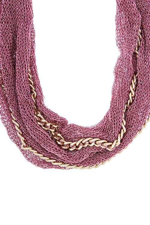 mesh multiple chain fabric necklace necklaces