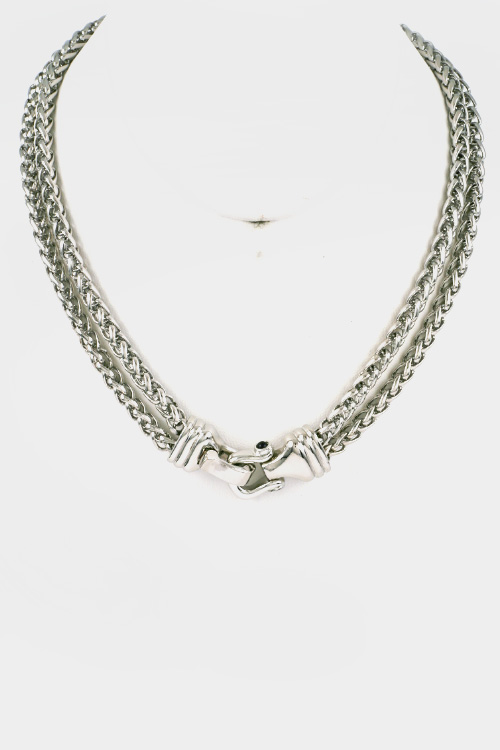 2 Row Chain Magnetic Closure Necklace