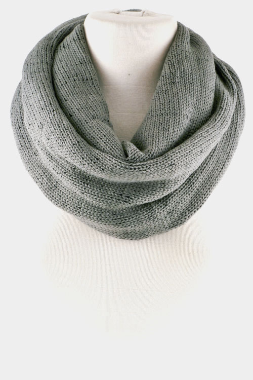 Simple Knitted Cowl Neck Warmer Scarf
