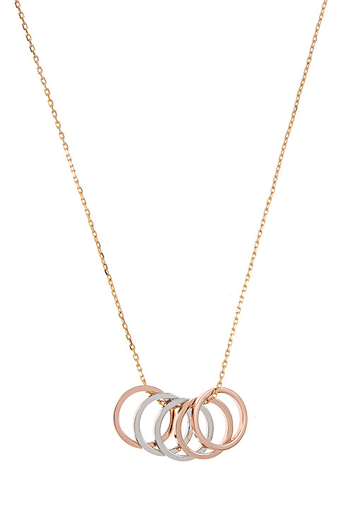Intertwined Ring Pendant Necklace