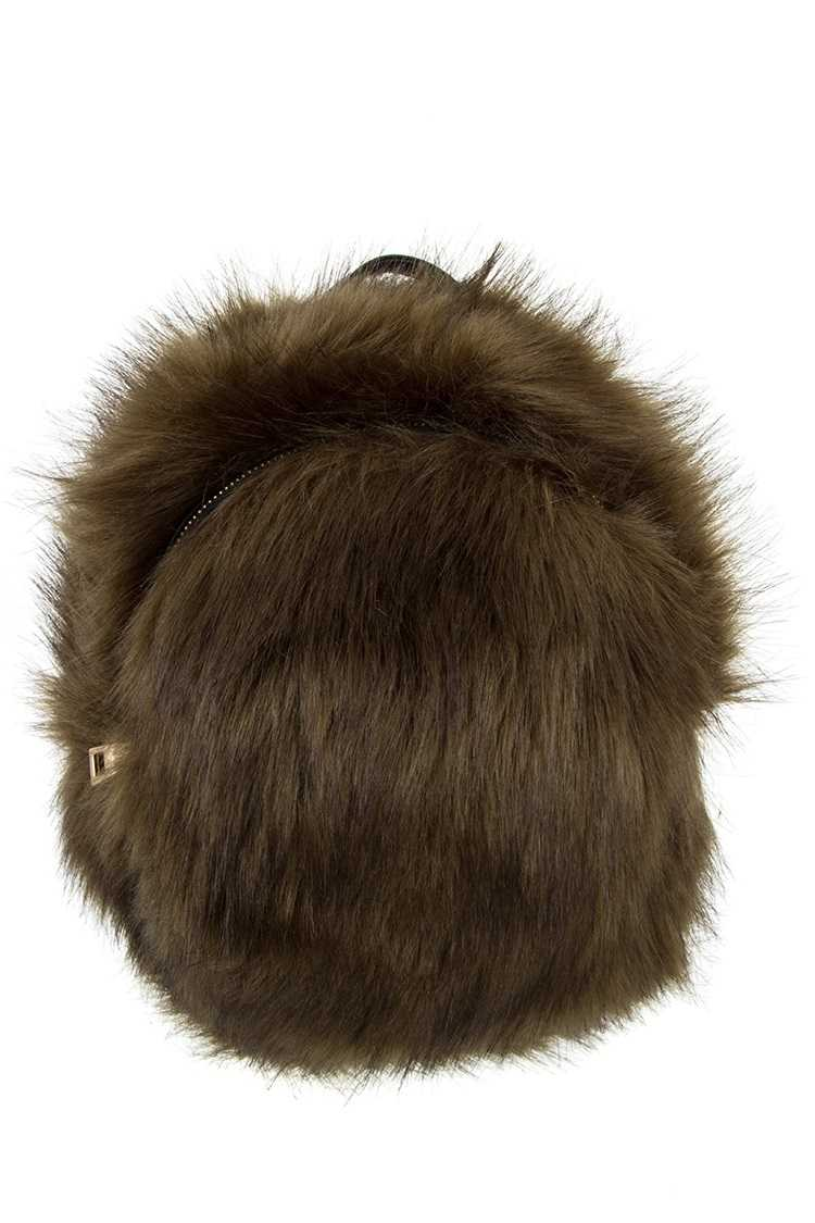 Mini Faux Fur Backpack