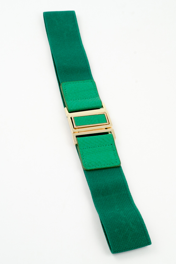 Square Buckle Stretch Belt