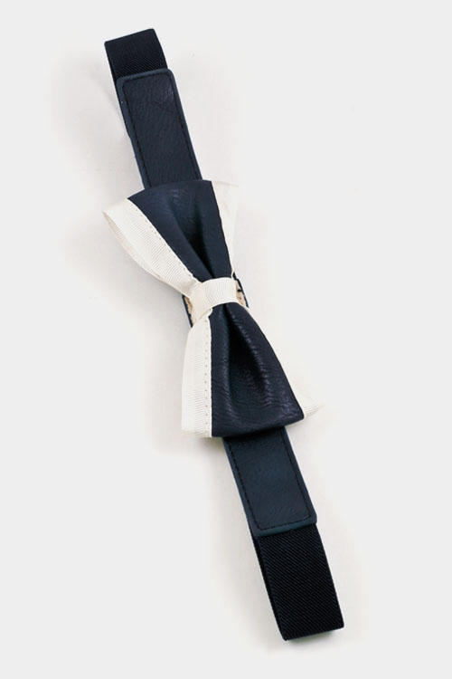 Dual Color Bow Belt