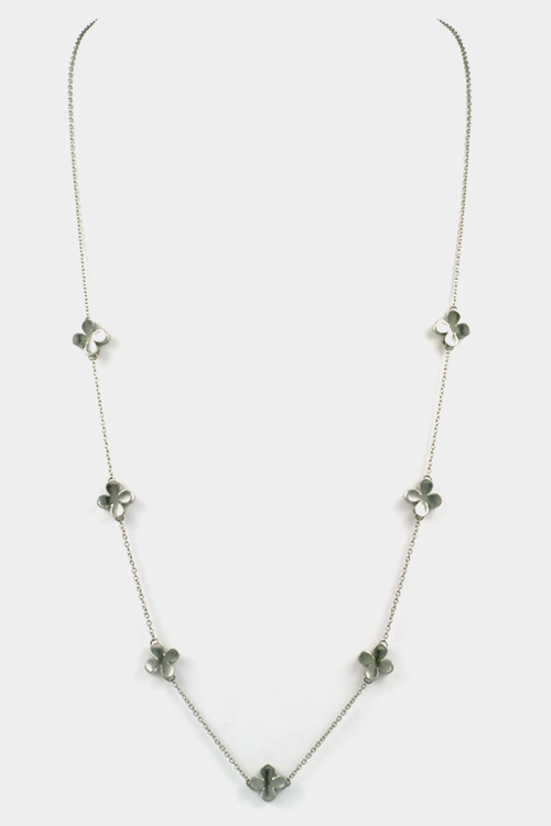Flowers Station Long Necklace