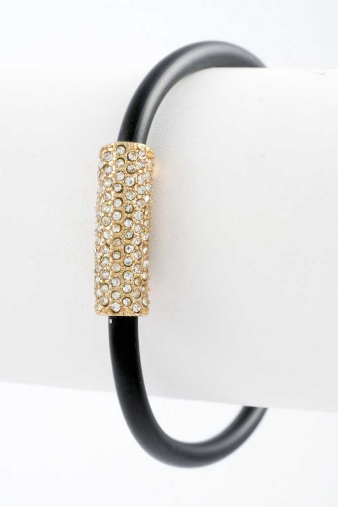 Bar with Rhinestone Magnetic Closure Bracelet
