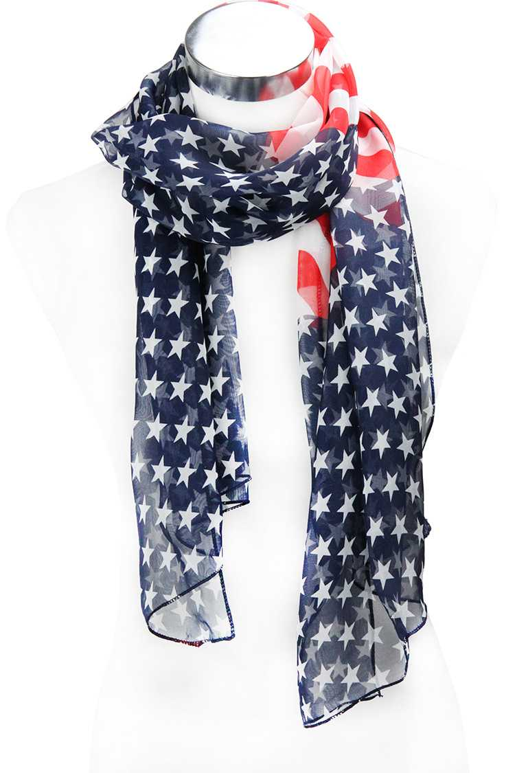 TRIANGLE PATTED AMERICAN FLAG PRINT