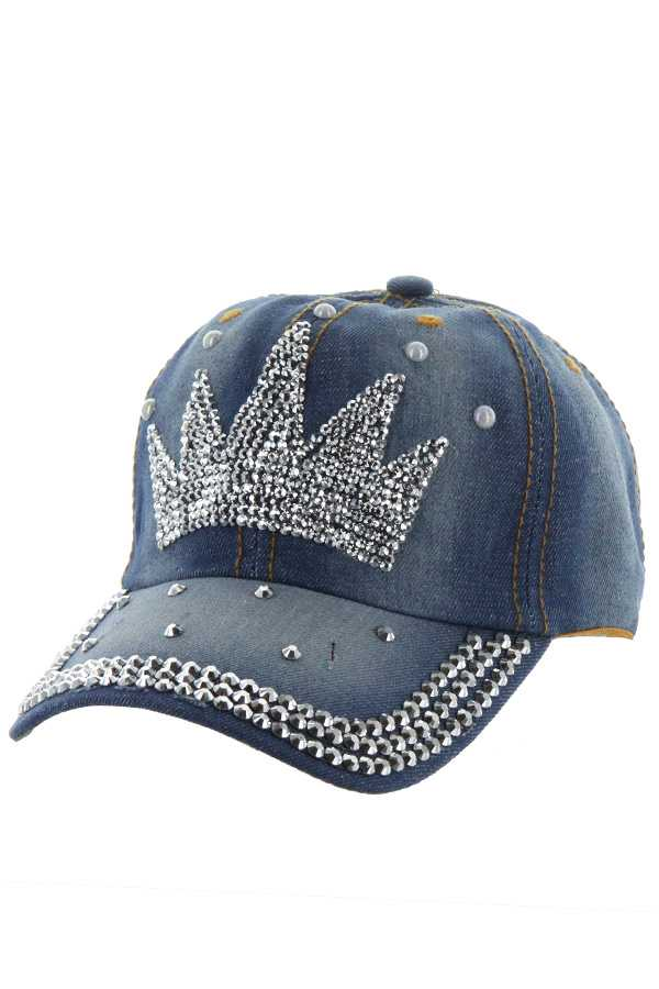 CROWN STONE DENIM CAP