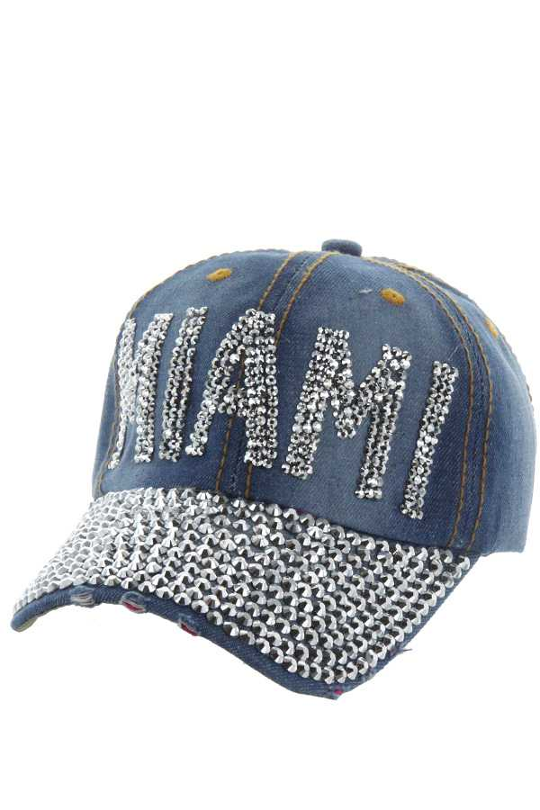 MIAMI DENIM STONE ACCENT CAP