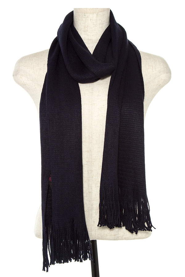 OBLONG TASSEL END SCARF