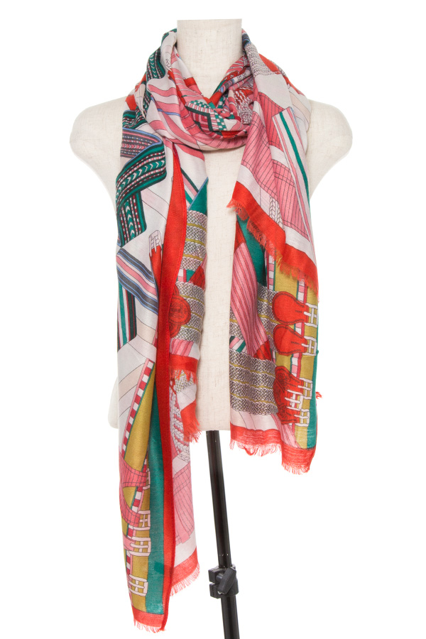 MIX COLOR PATTERN OBLONG SCARF