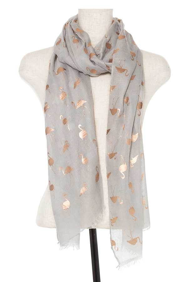 FLAMINGO ACCENT OBLONG SCARF