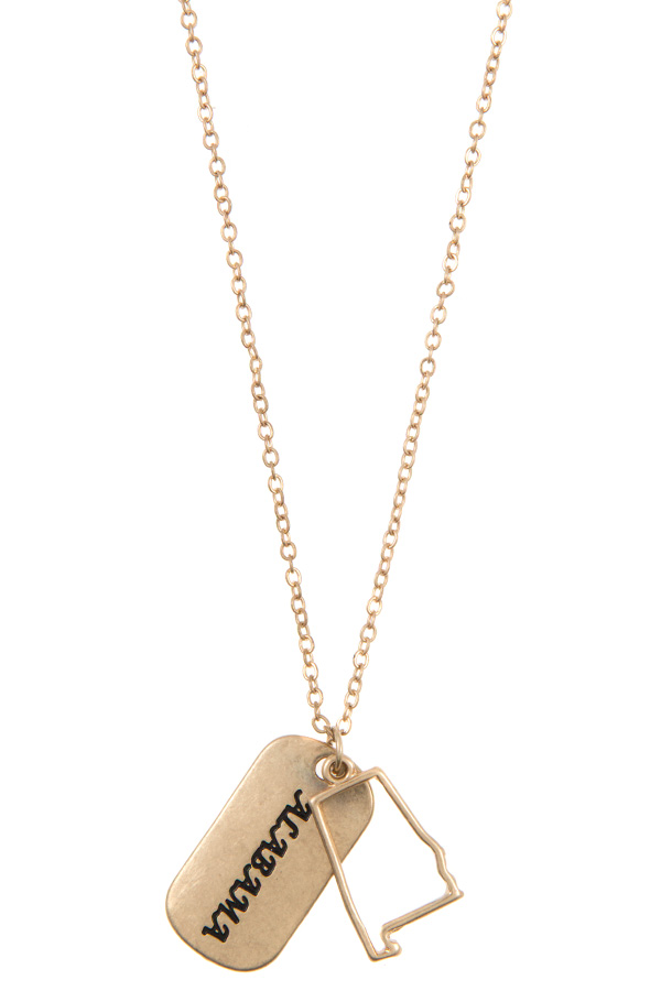 ALABAMA STATE PENDANT NECKLACE