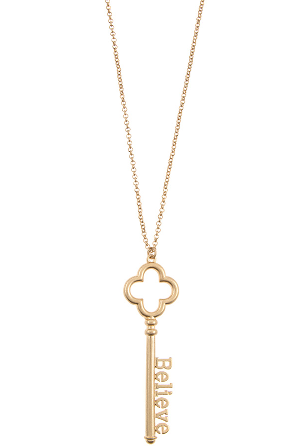 BLESSED KEY PENDANT LONG NECKLACE