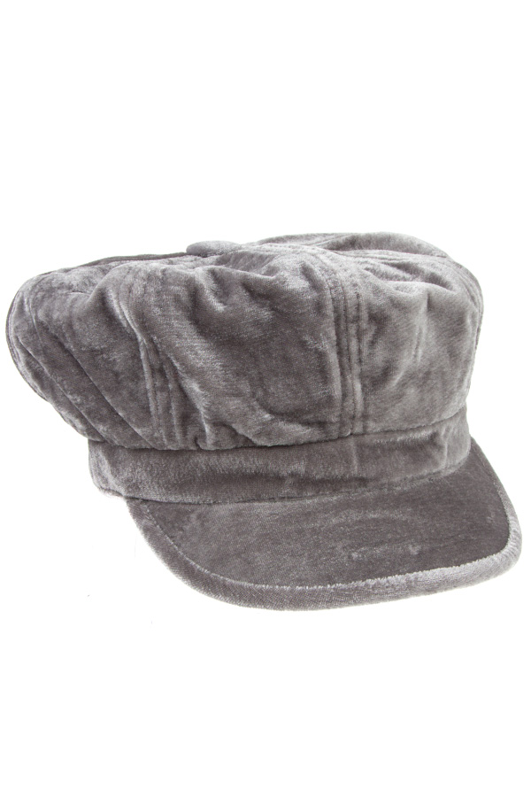VELVET LIKE NEWSBOY FASHION HAT