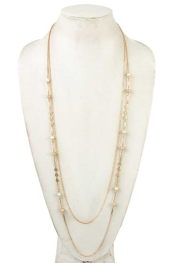 WIRED ORB LINK ELONGATED NECKLACE