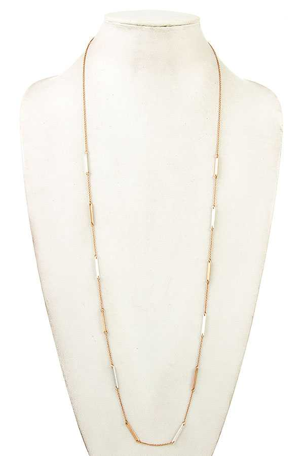BAR LINK LONG NECKLACE