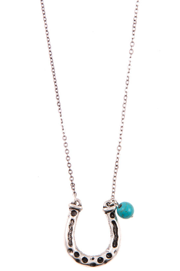 HORSE SHOE PENDANT NECKLACE SET