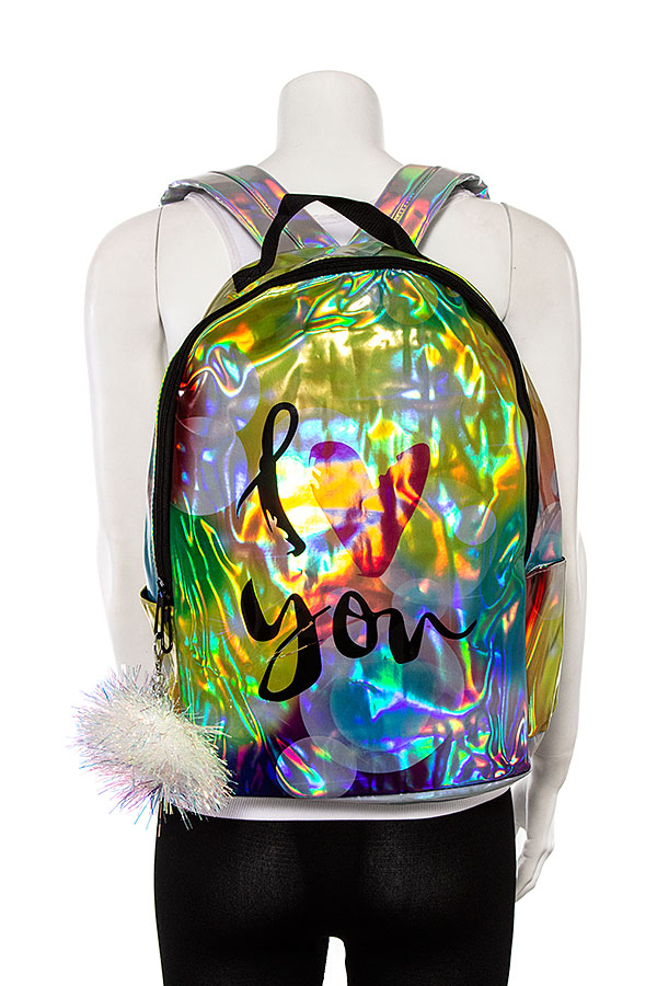 I LOVE YOU HOLOGRAPHIC BACKPACK