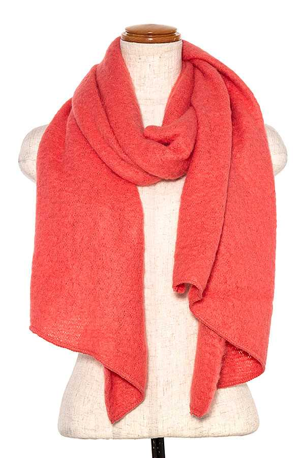 OBLONG SOLID SCARF