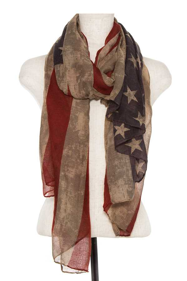 FLAG PATTERN OBLONG SCARF