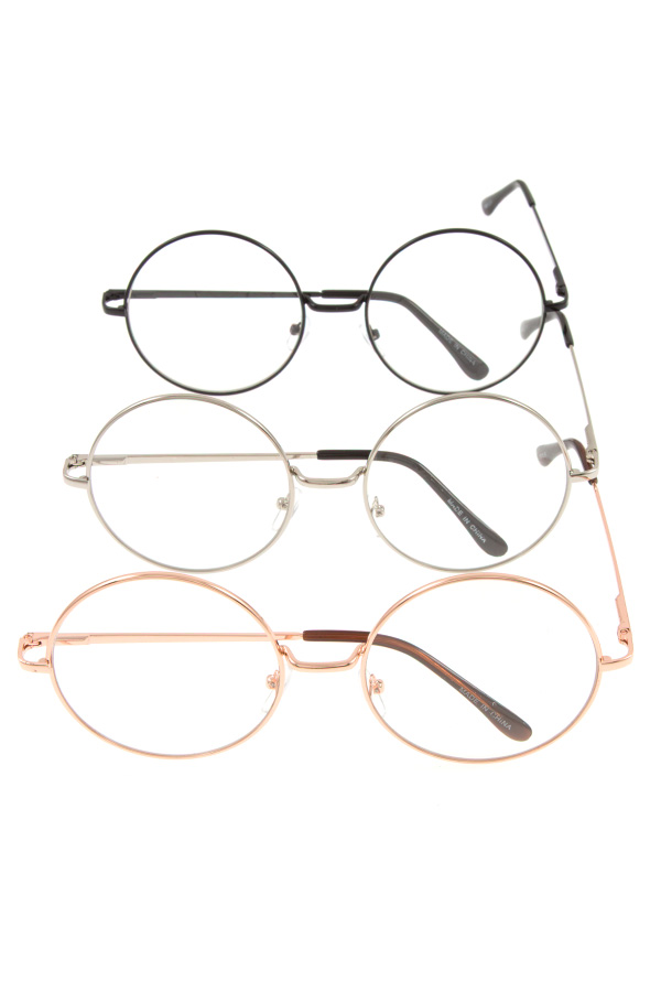 ROUND CLEAR FRAMED SUNGLASSES PACK