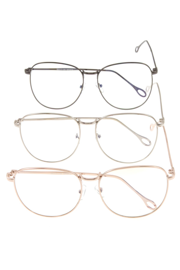 OVERSIZE CLEAR LENS SUNGLASSES PACK