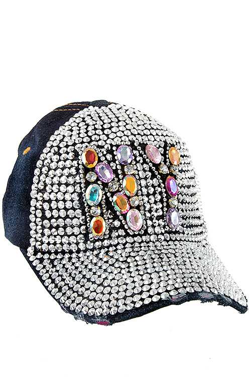 Full Bill Drill Stone NY Denim Cap