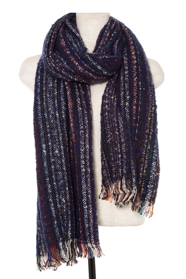 MULTI COLOR STRIPED OBLONG SCARF