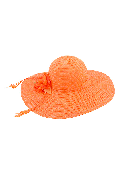 Flower Accent Lined Row Sunhat