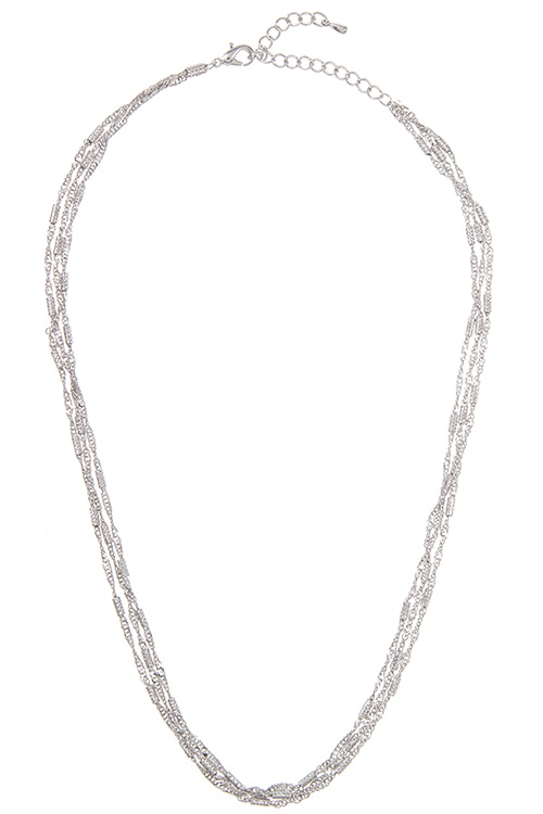 Mix Chain Detailed Accent Simple Necklace