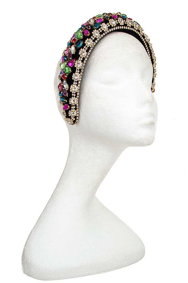 RHINESTONE AND CRYSTAL GEM HEADBAND