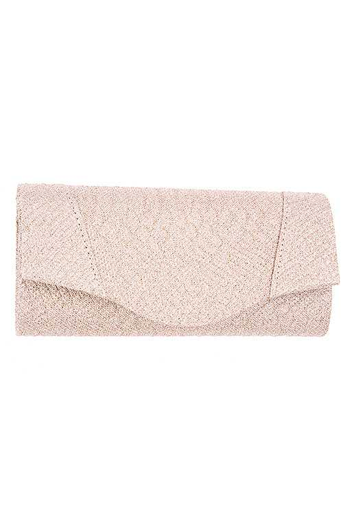Pattern Detailed Glittery Evening Clutch Bag