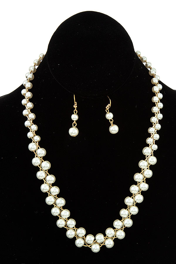 PEARL ACCENT NECKLACE SET