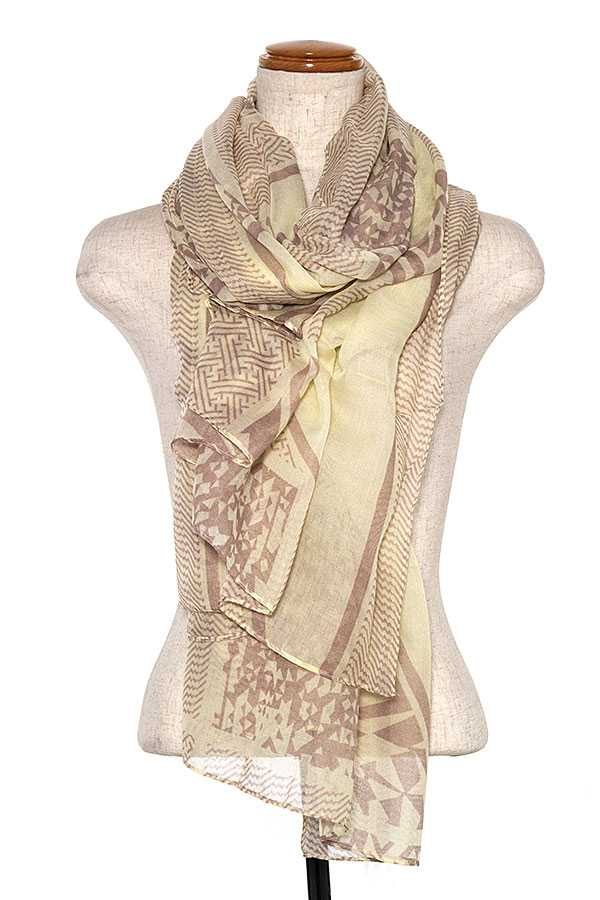 TRIBAL PRINT OBLONG SCARF