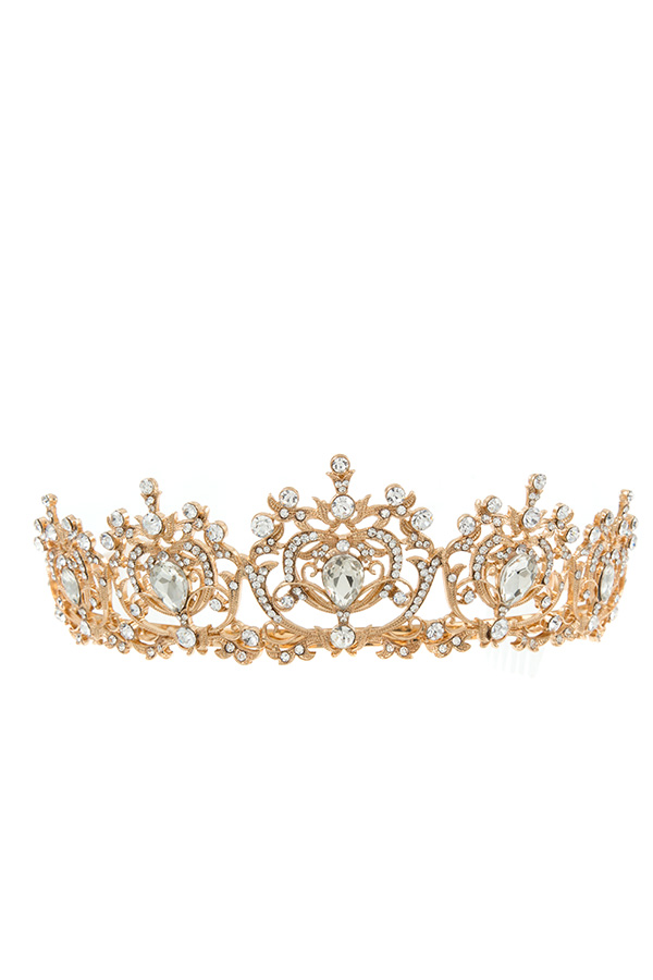 CRYSTAL DETAILED GEM TIARA