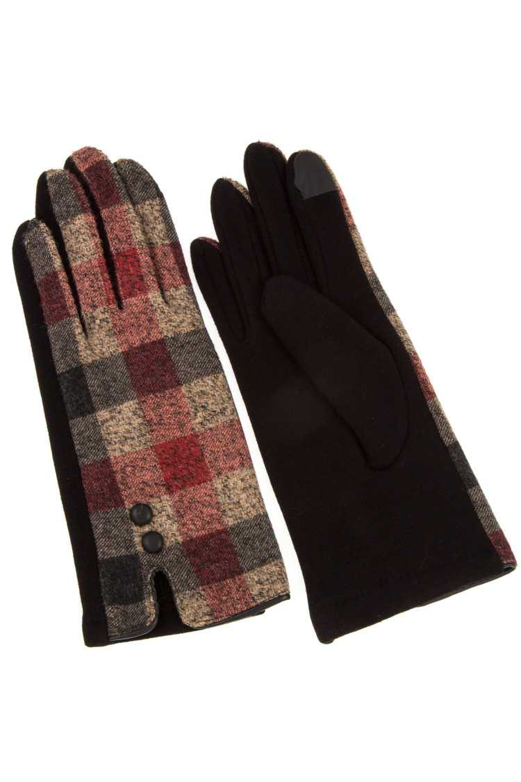 Color Speck Checkered Patter Winter Glove