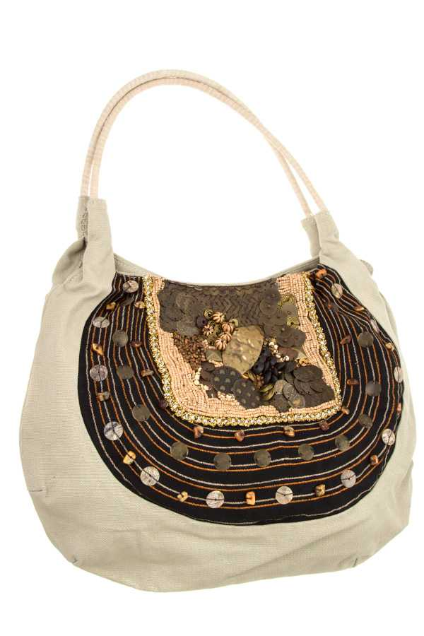 DISK ACCENT DETAILED SHOULDER BAG