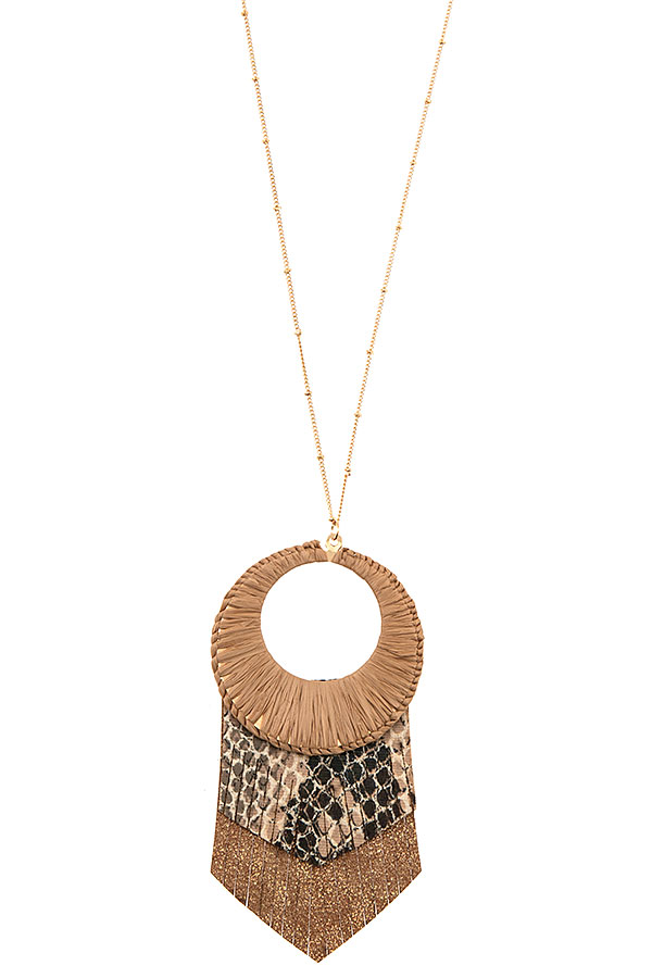 ANIMAL PRINT PENDANT NECKLACE SET