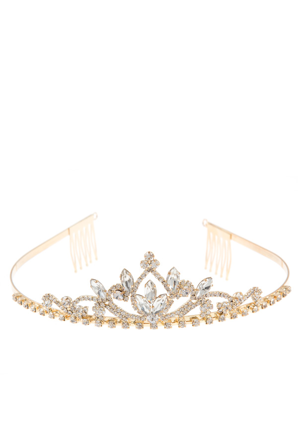 CRYSTAL ORNATE PAVE TIARA