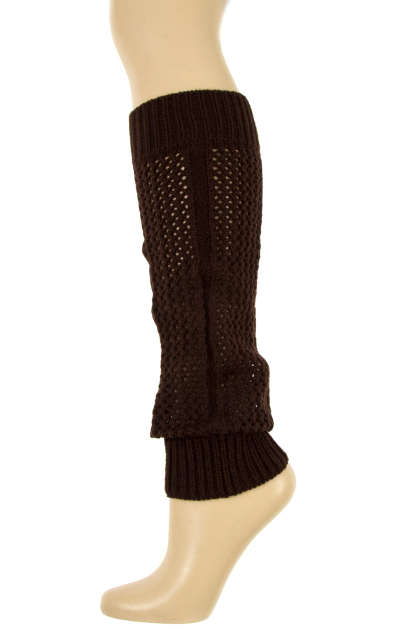 OPEN KNIT LONG LEG WARMER