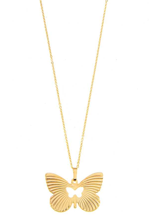 BUTERFLY PENDANT NECKLACE