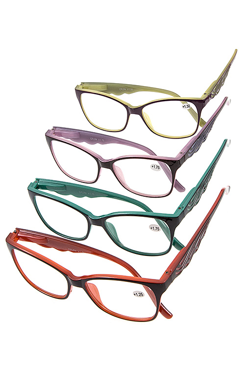 Two Tone Color Wave Reading Glasses Pack