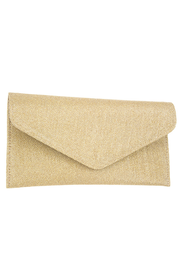 SHIMMER FLAT ENVELOPE CLUTCH BAG