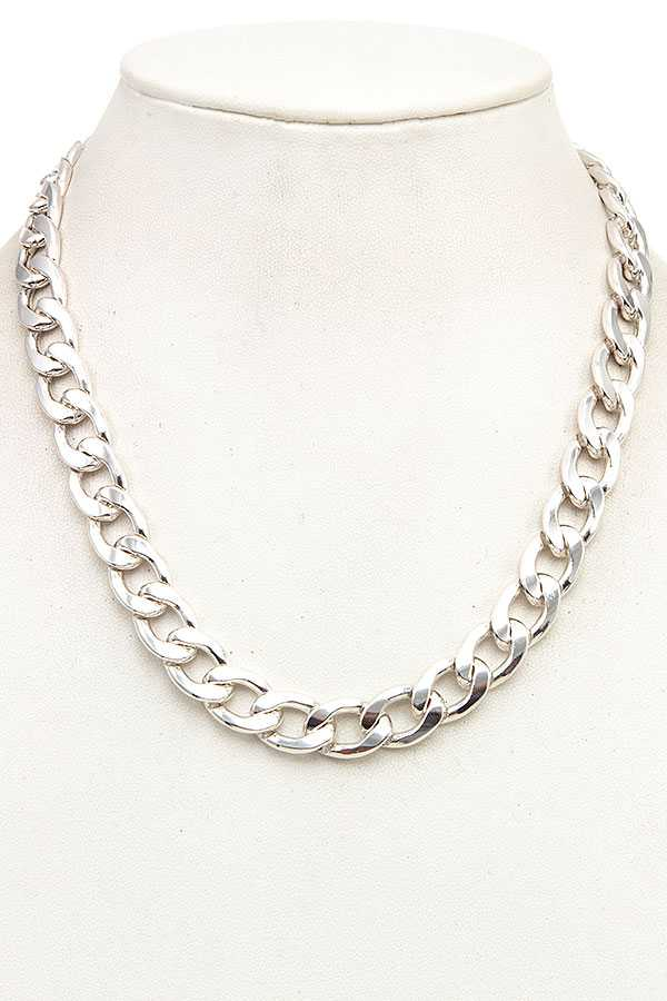 LINK CHAIN SILVER NECKLACE