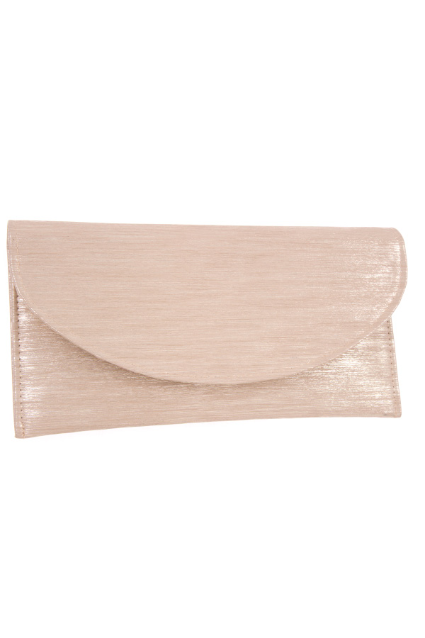 LINE TEXTURED FLAT CLUTCH BAG