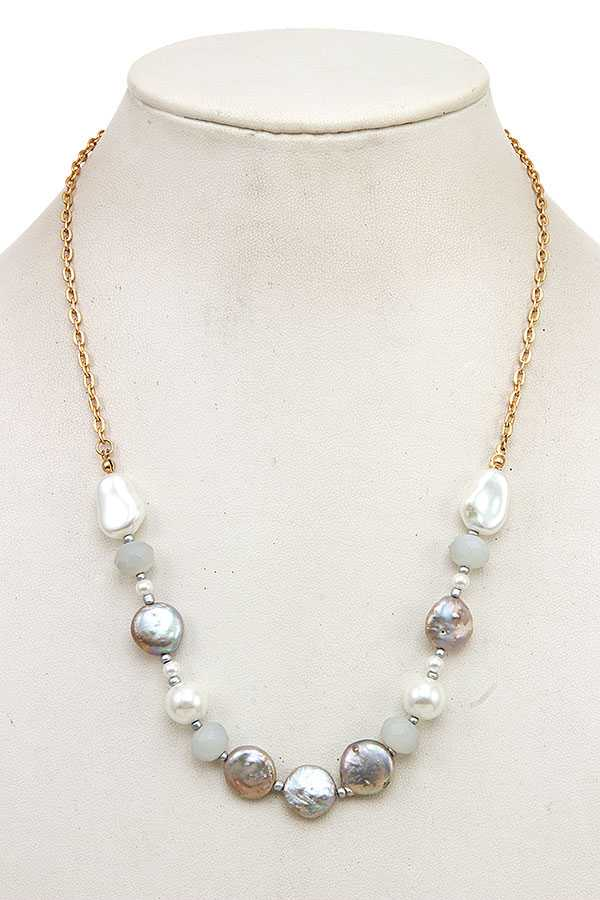FRESHWATER PEARL LINK NECKLACE