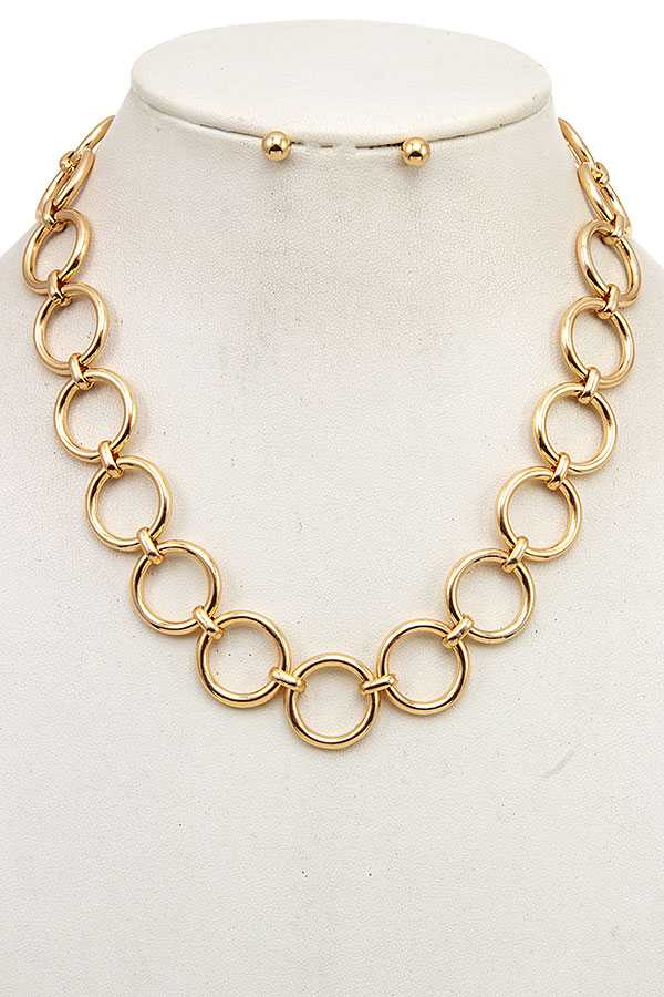 CIRCLE LINK NECKLACE SET