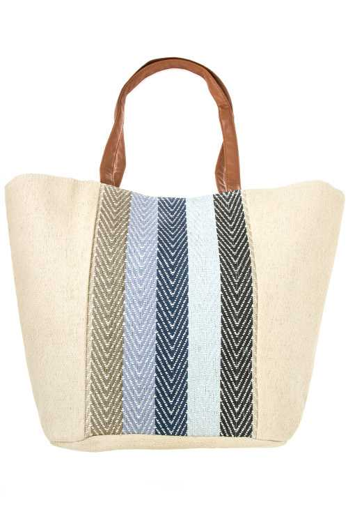 Chevron Lined Pattern Tote Bag