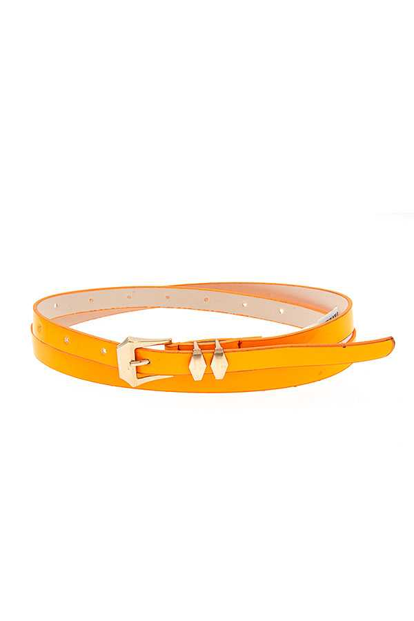 PATENT THIN FASHION BELT