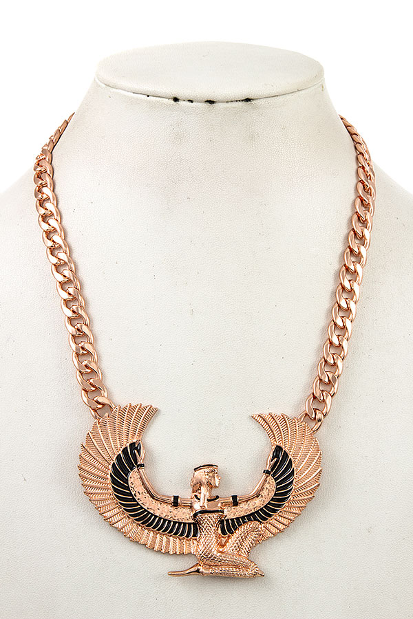 WINGED WOMAN PENDANT CHAIN NECKLACE